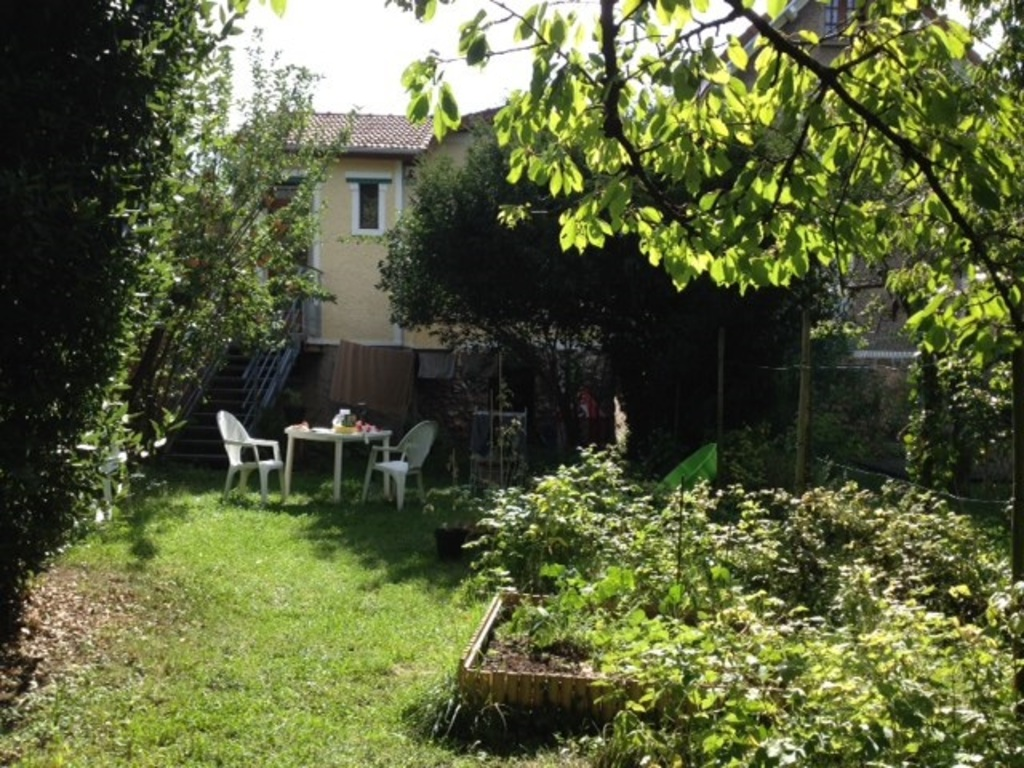 The garden extends the house