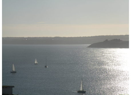 View on the bay of Saint Brieuc from our house
