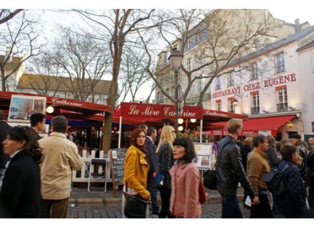 The place du Tertre, famous for its painters