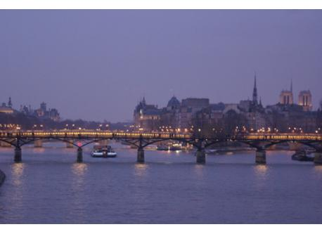the river Seine with Notre Dame cathedral (on the right)
