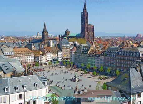 Place Kléber et Cathédrale de Strasbourg / Kléber Square and Strasbourg Cathedral / Kléberplatz und Strasburger Münster