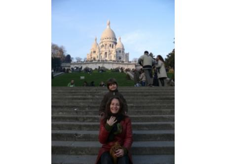 Valérie & Antonin in front of Le Sacré Coeur and Montmartre (15 minutes from the house)