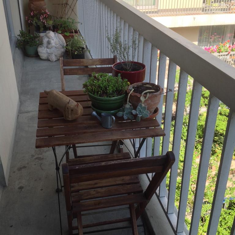 le balcon du petit déjeuner