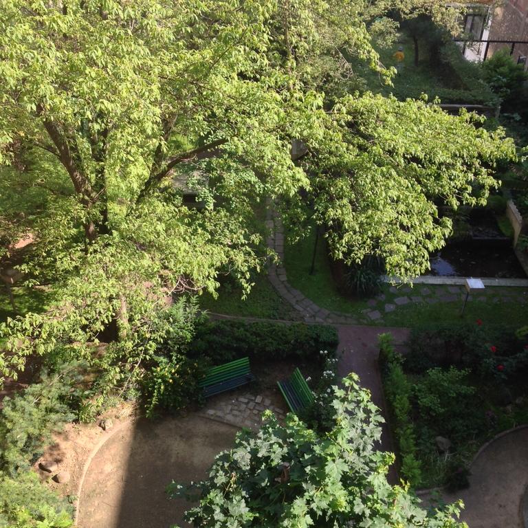 un jardin et un bassin