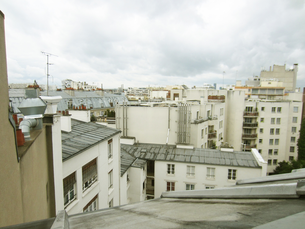 view from children bedroom - overlooking on the Paris roofs and Montparnasse tower