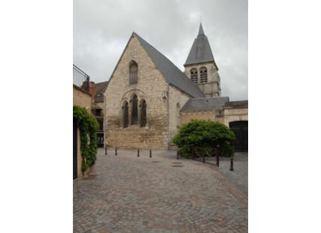 Old church in the historical center of Châteauroux