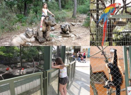Lunaret Zoo in Montpellier (free) and Amazonia Parc