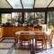The kitchen in a sunny veranda
