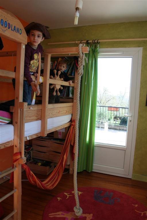 "First floor - benoît's room with a ""pirate"" bed 80*180"