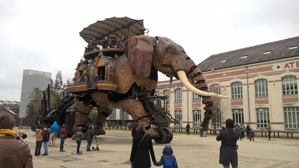 Promenade de l'éléphant sur l'Ile de Nantes