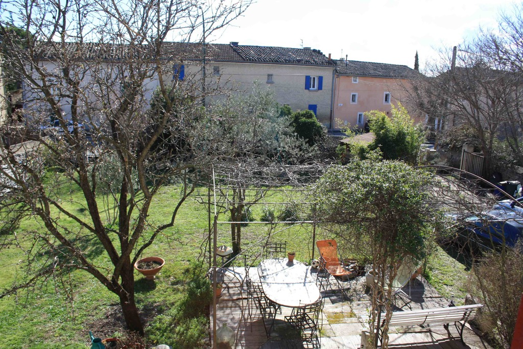 view of the garden from the window of the 1st floor
