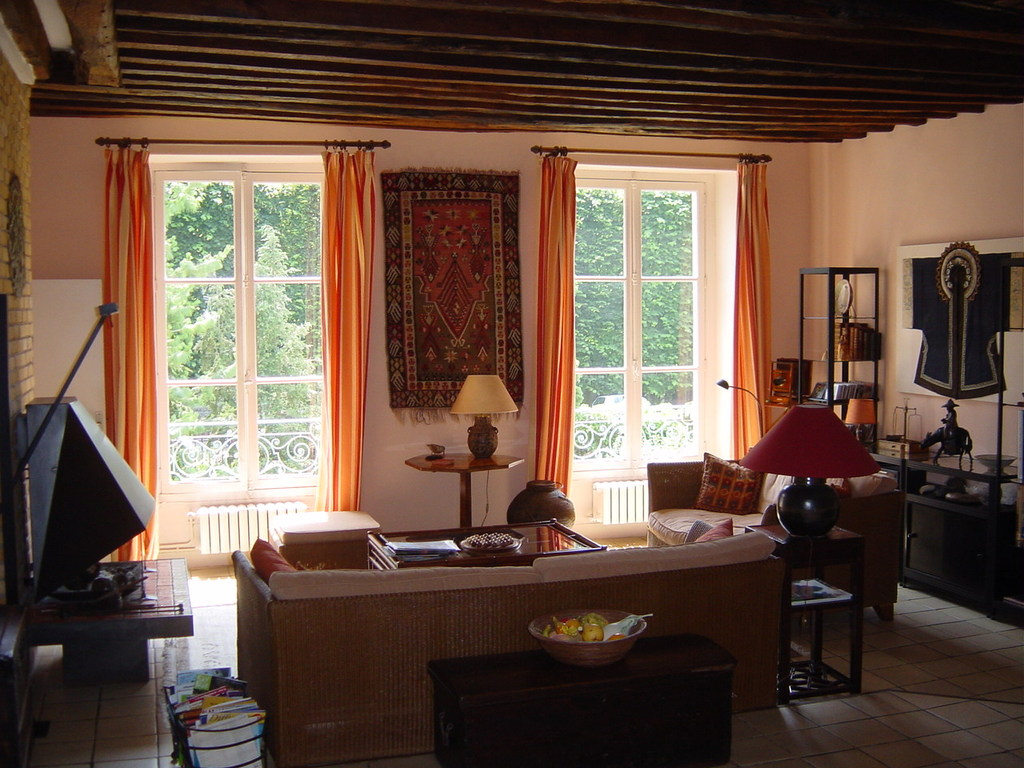 Versailles. Large living room overlooking the gardens