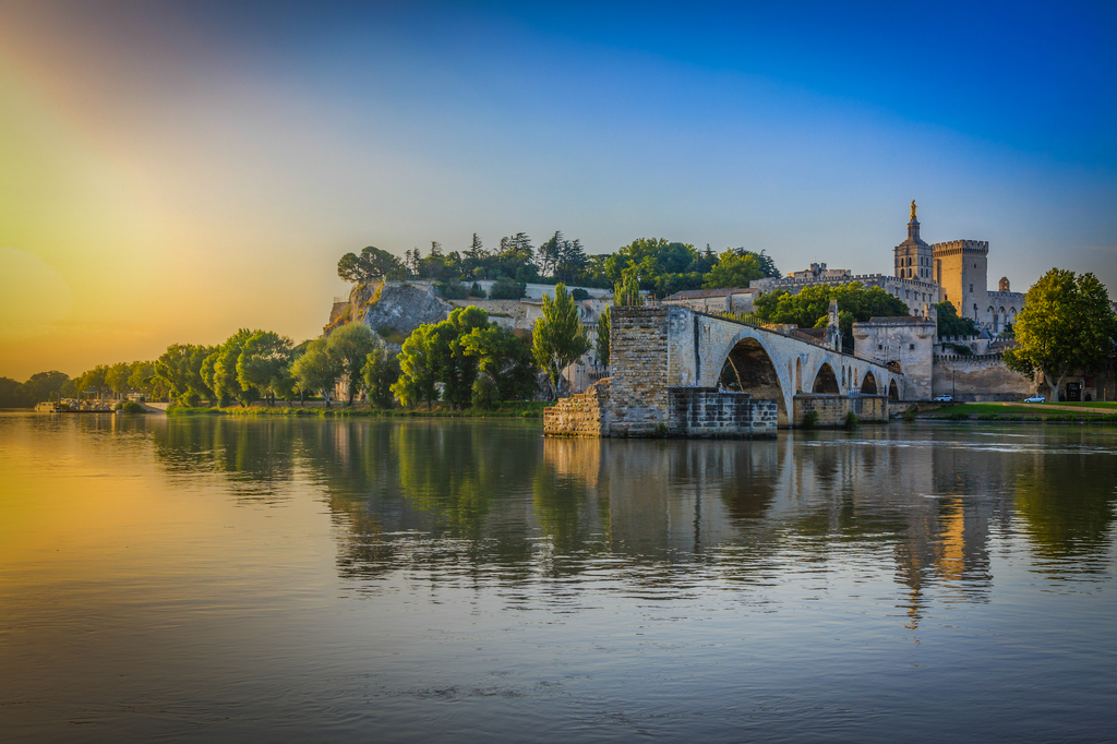 Avignon is a beautiful city in Provence