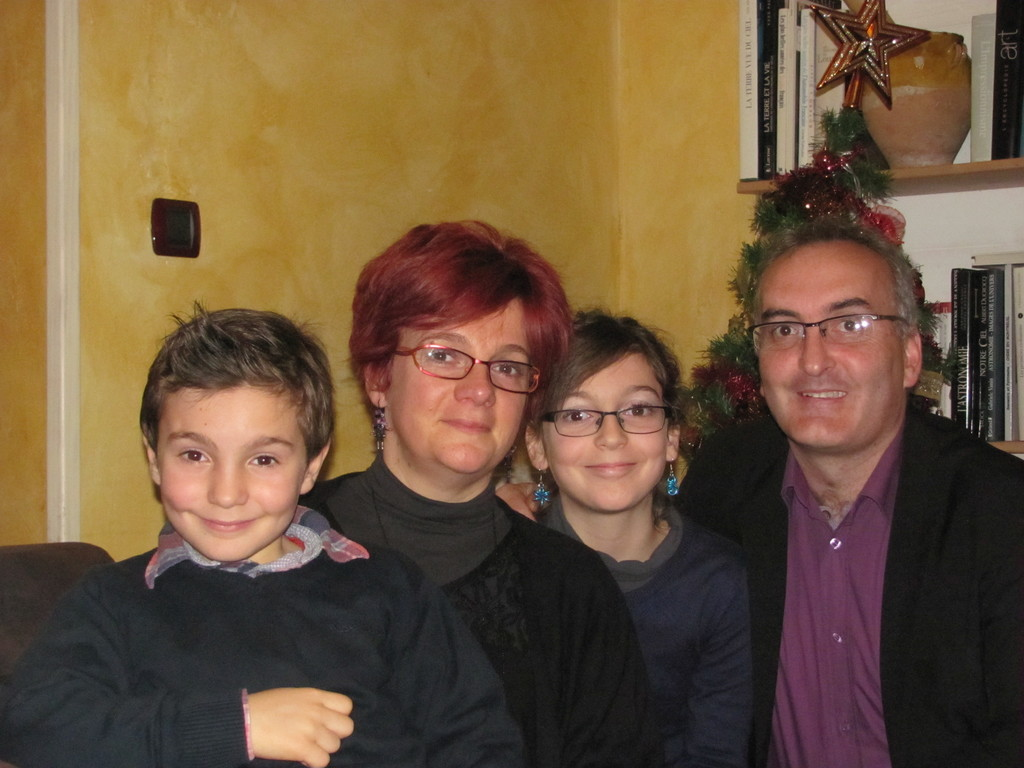 Our family, Mateo, Stéphanie, Camille, Patrick.