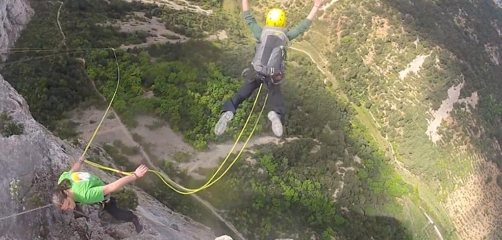 bungee jumping, St-Guilhem, 55 mn