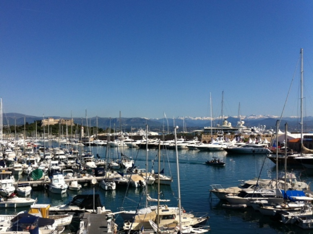 Port Vauban, the largest port for leisure boats in Mediterranean.