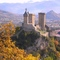 1 h from Toulouse : the Castle of Foix, and beyond it, the Pyrenees
