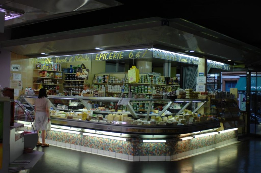 Marché des Carmes (5 min walk from home). Lots of good food... This is our great cheese shop !