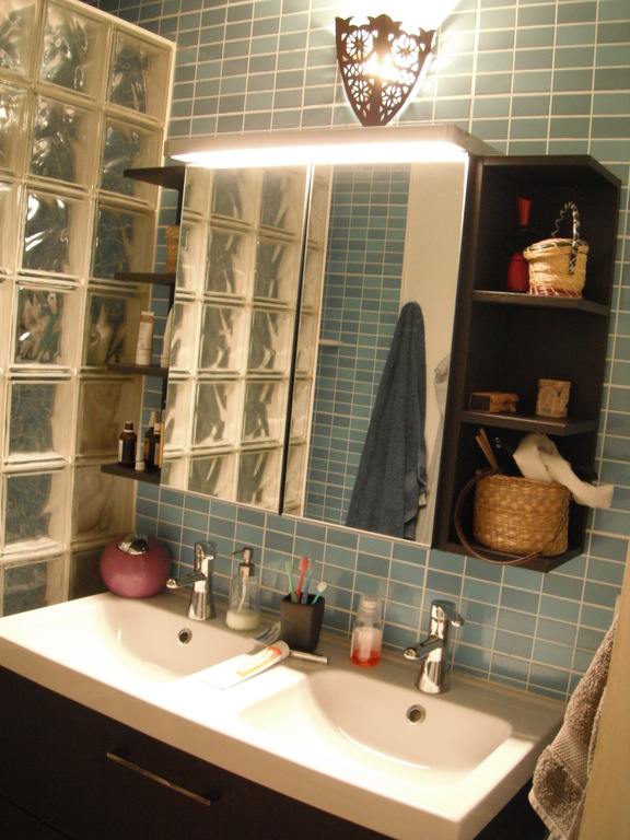 Bathroom 2 (with italian shower, behind the glass bricks)