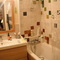 Bathroom 1 (with bathtube, washing machine & tumble-drier, baby care table)
