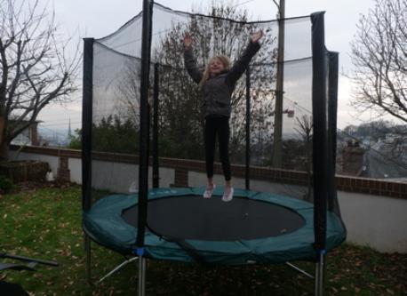 un trampoline