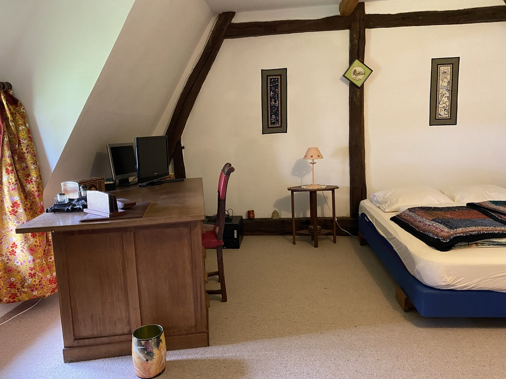 4th bedroom with single and double beds