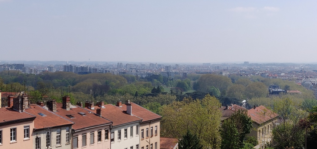 View of Lyon's largest park (from room 1)