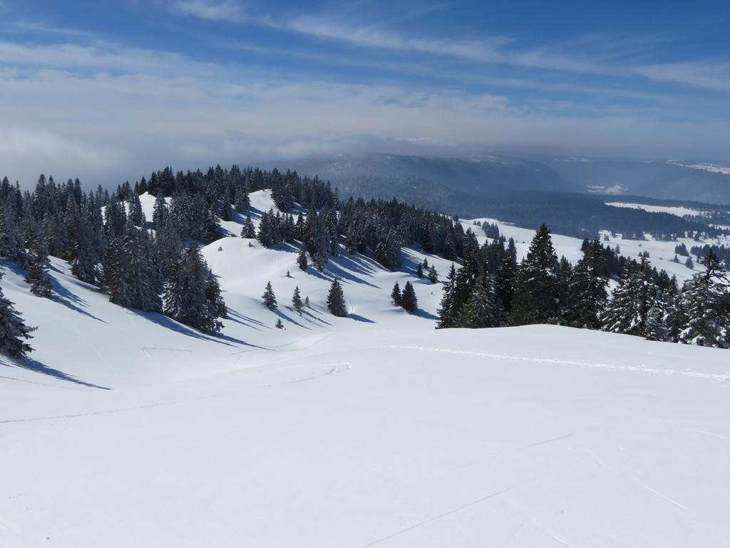 the moutain in winter