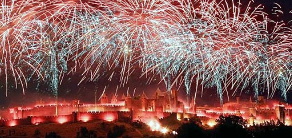 Carcassonne's fireworks on the 14 of July