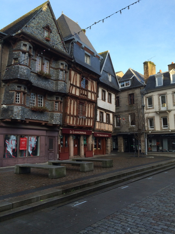 The town of Lannion with its charming old centre with half-timbered and corbelled houses.
