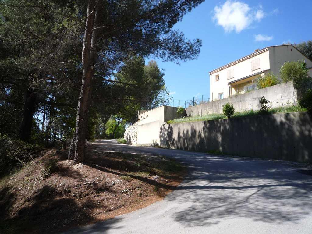 upward view of the villa