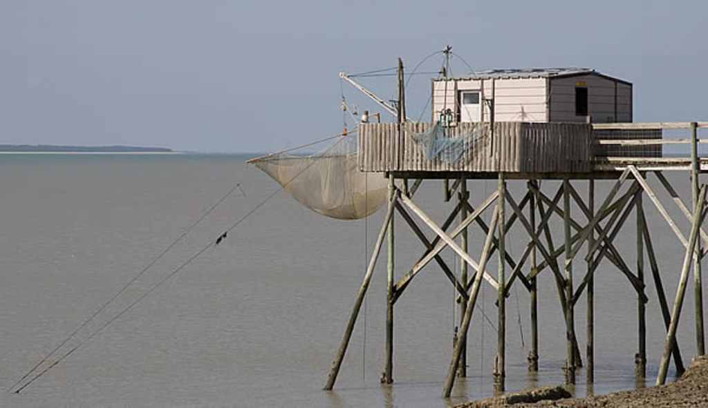 Carrelets along the coastline of Charente-Maritime