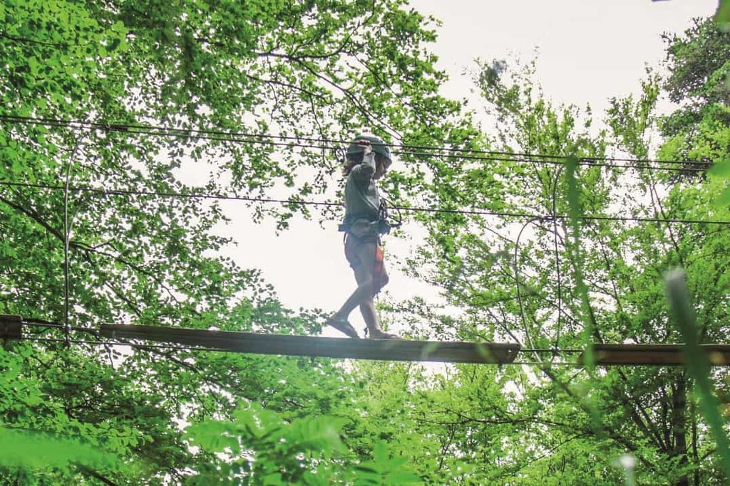 """""""adventure park"""" a few hundred meters from the house."""