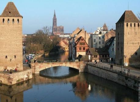 Strasbourg, 40 km away.