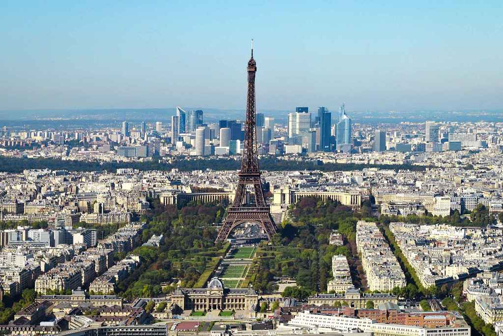 Paris 2 hours from Bordeaux by train (TGV)