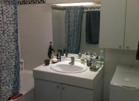 partial view of bathroom