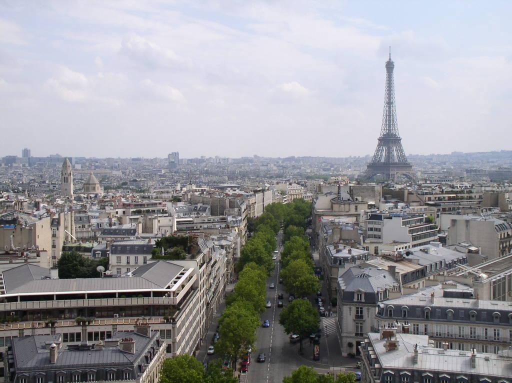 vue sur l'Arc du Triomphe