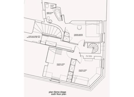 sith floor plan / plan 6ème étage - duplex