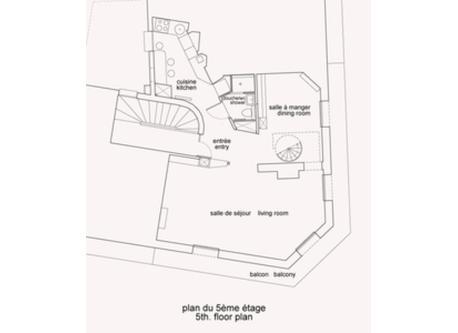 fifth floor plan / plan 5ème étage