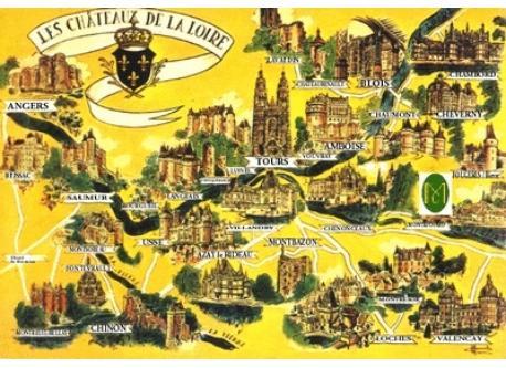 map Castels Loire Valley