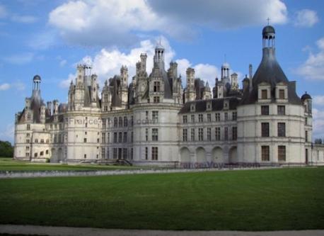 Castel of Chambord near Blois city