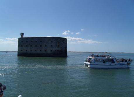 Fort Boyard between isle Oléron and Ile d'Aix
