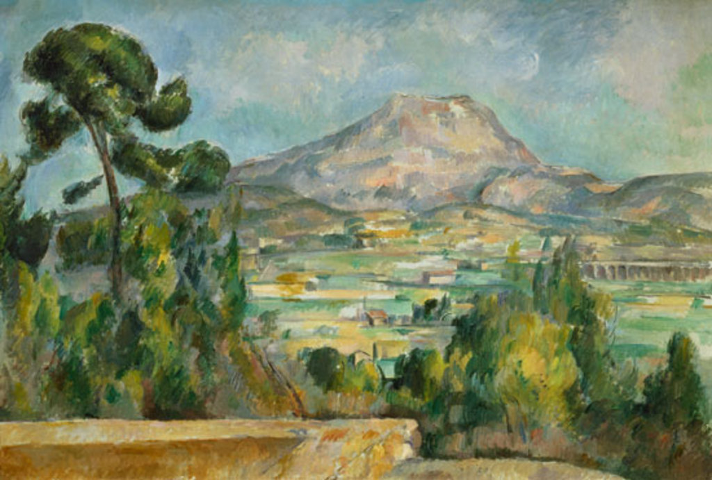 Sainte-Victoire mountain (in Aix) by the painter Paul Cezanne