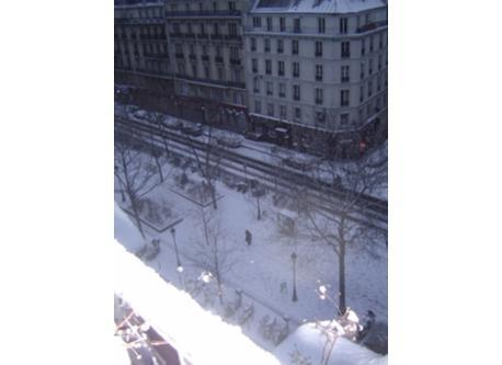 vue boulevard par temps de neige