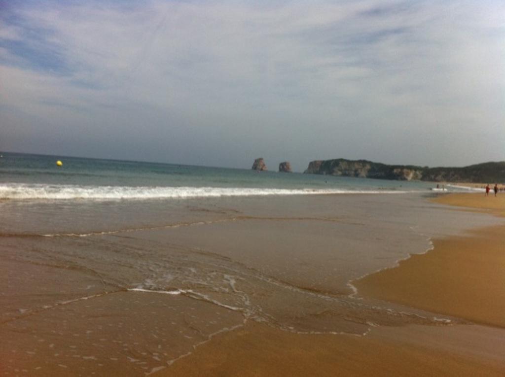 "Hendaye Beach with ""Les deux jumeaux"" The twins"