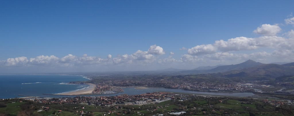Hendaye and Txingudi Bay, a view from spanish mountain