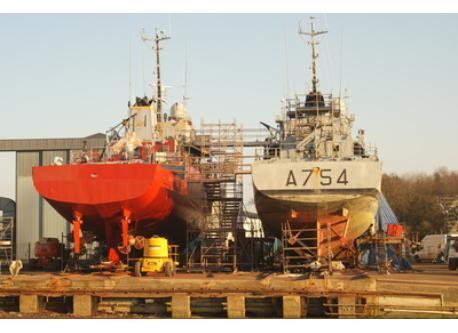 le chantier naval de Concarneau