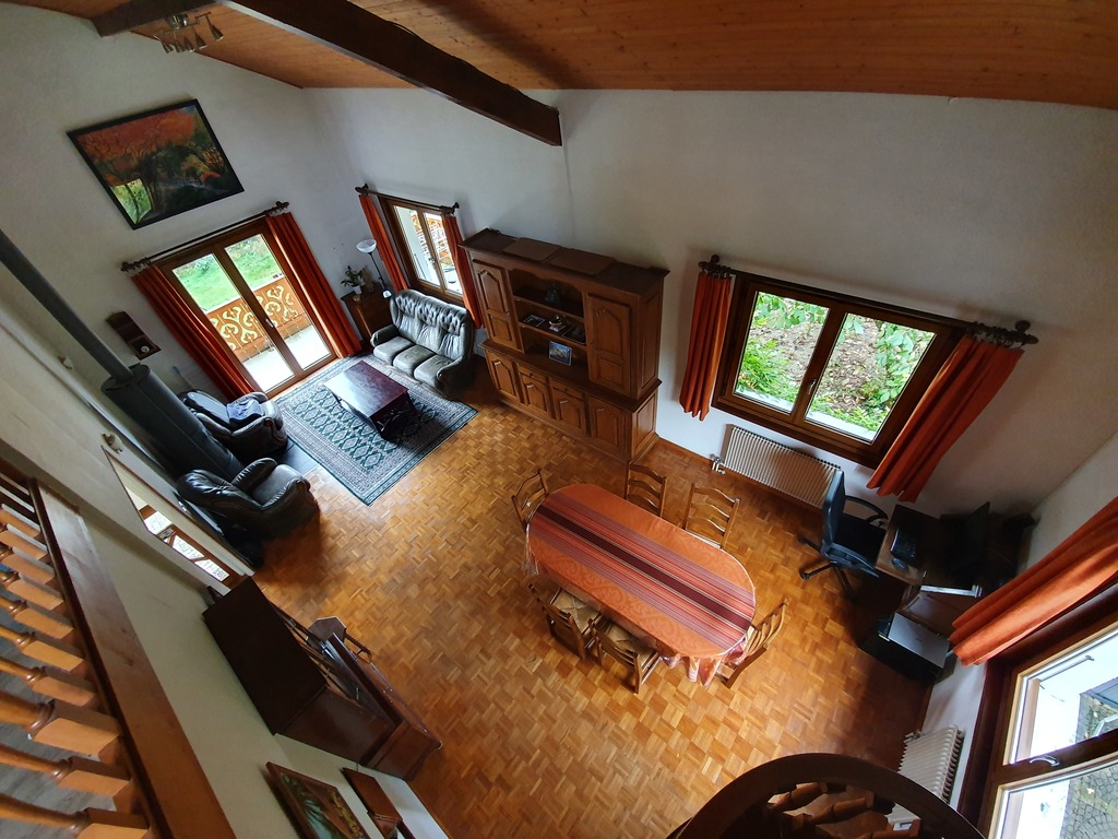 View of the living room from the mezzanine