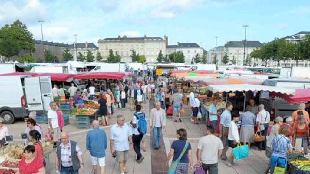"Our Market ""Lafayette"", one of the most beautiful of Angers"