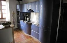 Sunny kitchen with dishwasher and great worktable.